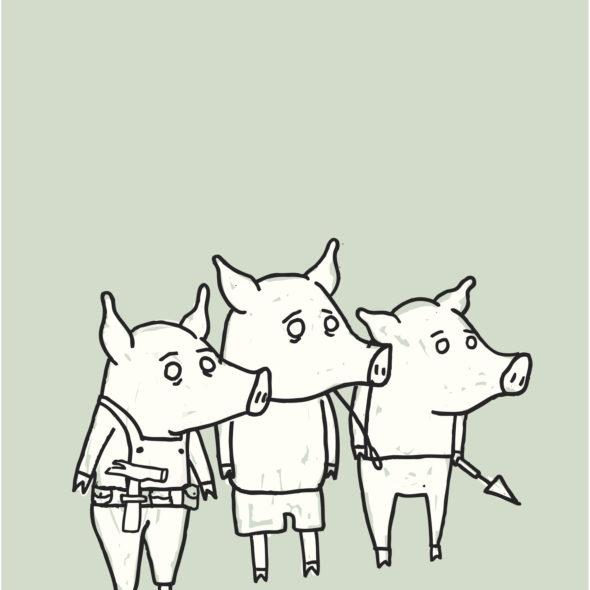 Les trois petits cochons...