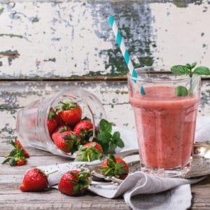 Eau de coco à la fraise